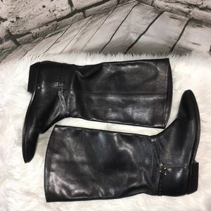 Etienne Aigner (Alexis I) Black Leather Boots